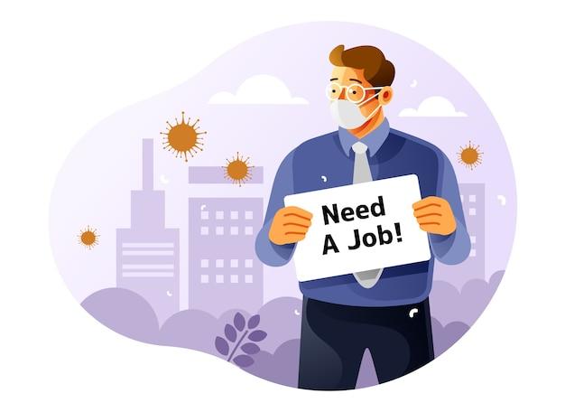 Verlust eines arbeitsplatzes aufgrund von coronavirus-auswirkungen
