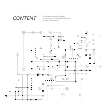 Vernetzen und verbinden sie linien und punkte. technologiequadrat-kommunikationshintergrund