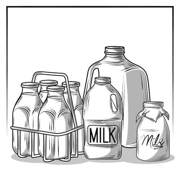 Verpackung für milch