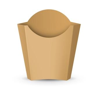 Verpackung für pommes frites illustration