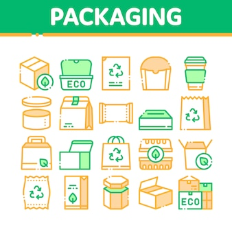 Verpackung icons collection
