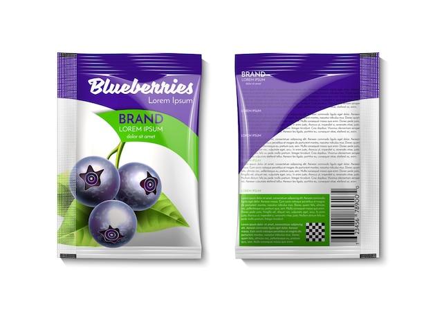 Verpackung mit blaubeeren