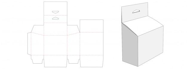 Verpackung mit hängeloch-stanzschablonendesign