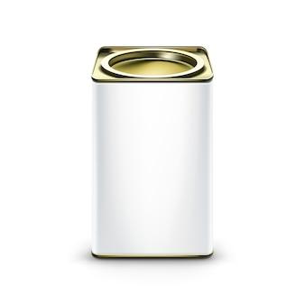 Verpackungsbehälter der weißen blechdose für tee-kaffee