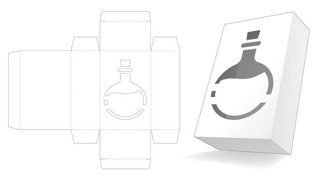 Verpackungsbox mit schablonierter giftstanzschablone