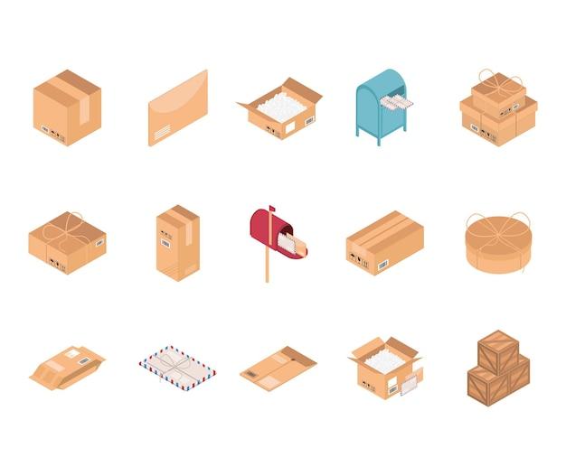 Verpackungsbox-symbole festgelegt