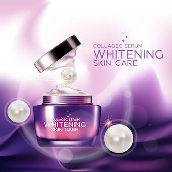 Verpackungsdesign modell cremeserum für schönheits- und kosmetikkonzept