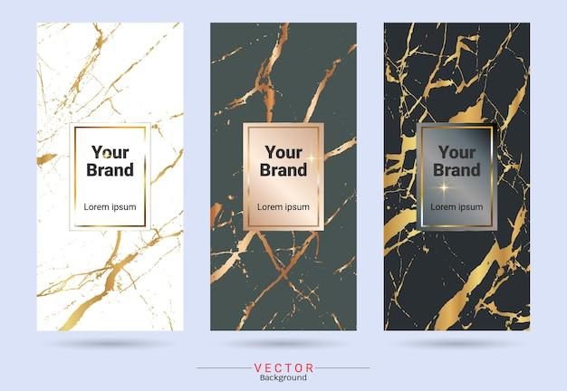 Verpackungsprodukt-design-label und aufkleber vorlagen