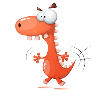 Verrückte dinosaurier illustration.