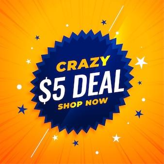 Verrückte dollar deal banner
