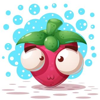 Verrückte erdbeere