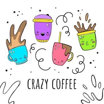Verrückter kaffee