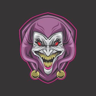 Verrücktes clown-logo