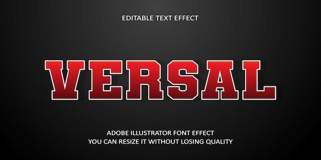 Versal editierbarer text schrift effekt