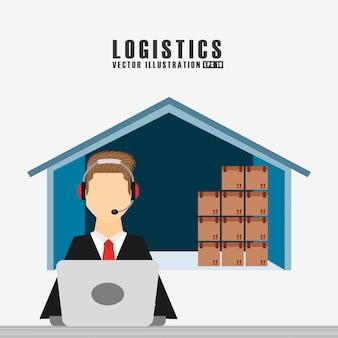 Versand logistik abbildung