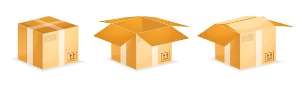 Versandkartons aus isometrischem karton