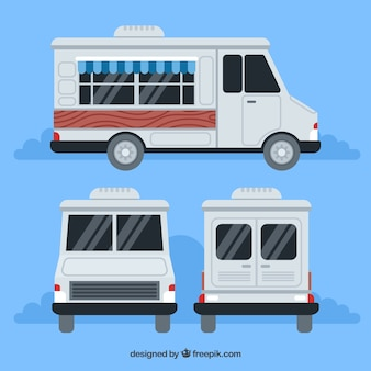Verschiedene ansichten von caravan