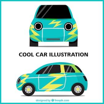 Verschiedene ansichten von coolen auto