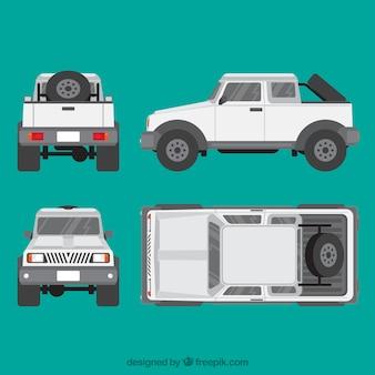 Verschiedene ansichten von jeep