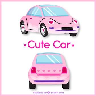 Verschiedene ansichten von niedlichen auto