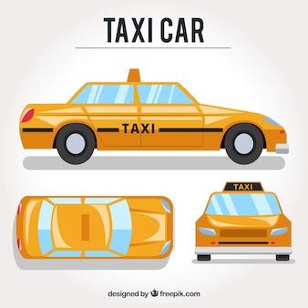 Verschiedene ansichten von taxiauto