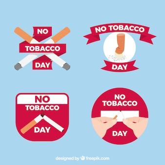 Verschiedene anti-raucher-aufkleber