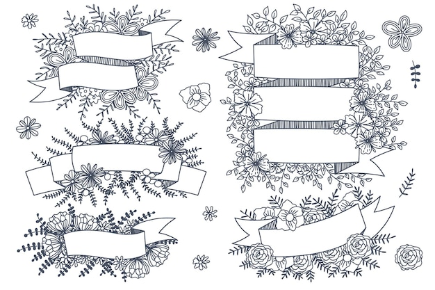 Verschiedene arten von blumenrahmen