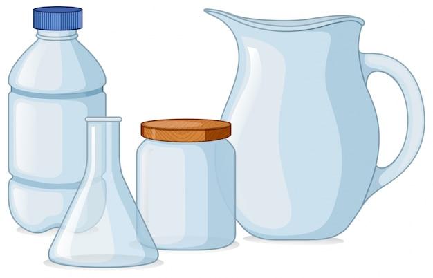 Verschiedene arten von containern