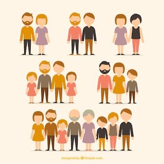 Verschiedene arten von familien
