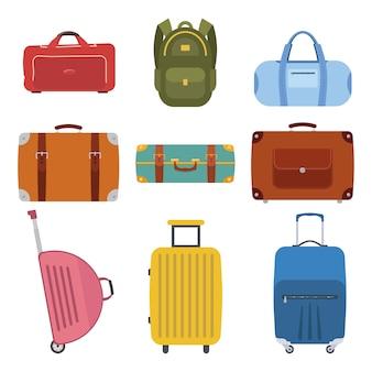 Verschiedene arten von gepäck für die reise.