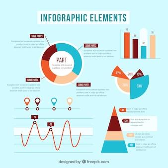 Verschiedene arten von graphen für infografiken