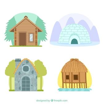 Verschiedene arten von häusern