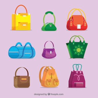 Verschiedene arten von handtaschen-kollektion