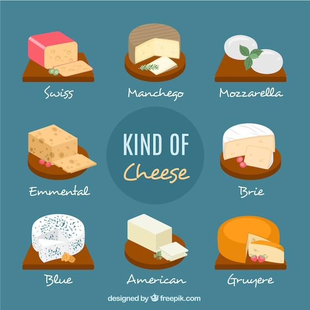Verschiedene arten von käse