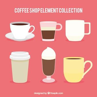 Verschiedene arten von kaffeepackung