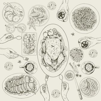 Verschiedene arten von lebensmitteln auf dem tisch