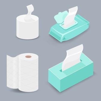 Verschiedene arten von seidenpapier