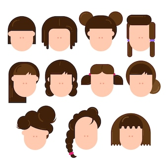 Verschiedene arten von weiblichen frisuren