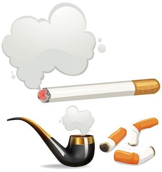 Verschiedene arten von zigaretten