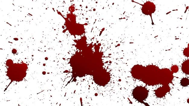 Verschiedene blut- oder farbspritzer