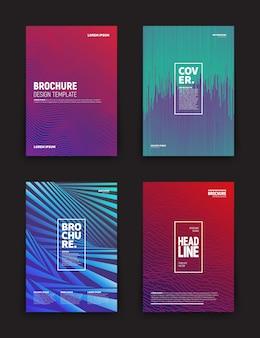 Verschiedene broschüren designvorlagen