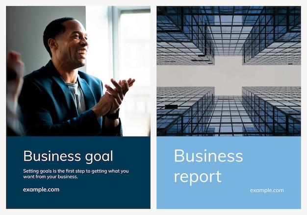 Verschiedene business-poster-vorlagen mit people-fotografie-set, kompatibel mit ai