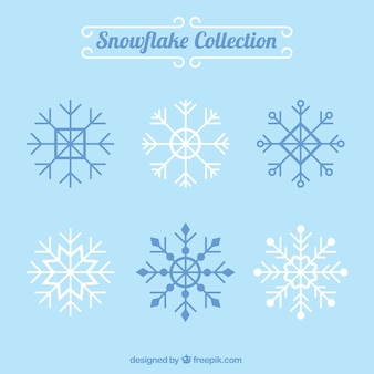 Verschiedene dekorative schneeflocken