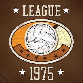 Verschiedene elemente des sport-icons-konzeptes (volleyball-liga)
