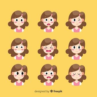 Verschiedene emotions-avatar-sammlung
