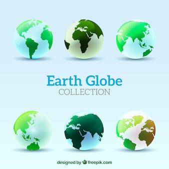 Verschiedene erde globen