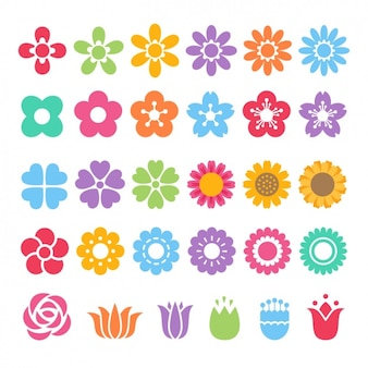 Verschiedene farbige symbole