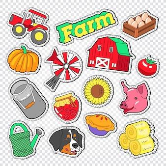 Verschiedene farm agriculture doodle
