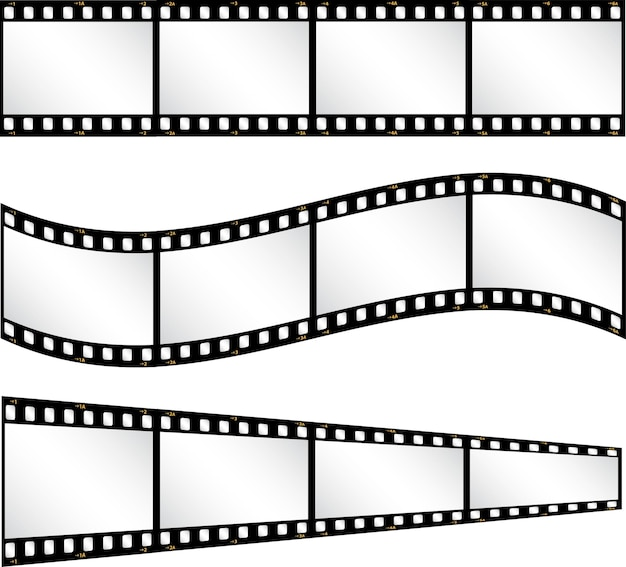 Verschiedene filmstreifen hintergrund