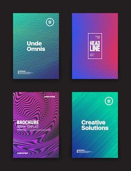Verschiedene flyer design-vorlagen